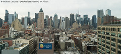 Cloudy Morning Panorama (20170325-DSC09574-Pano-2-Edit) (Michael.Lee.Pics.NYC) Tags: newyork aerial hotelview panorama ink48 hellskitchen architecture cityscape midtownmanhattan timessquare westside sony a7rm2 fe2470mmf28gm ogilvymather 63611thavenue worldwideplaza