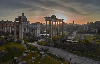 Sunrise Forum Romano, Rome, Italy
