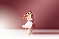 Dance with me... (Jennifer Blakeley) Tags: mother daughter dance motherhood twirl portrait barefoot pink studio spotlight moody dreamy dramatic woman child