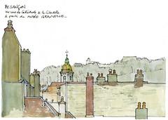Besançon (gerard michel) Tags: france franchecomté besançon cathédrale sketch croquis architecture aquarelle watercolour
