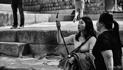 Getting the angle right (gunman47) Tags: 24105 24105mm asia b bw changdeok changdeokgung ef korea korean mono monochrome palace rok republic seoul sepia south w black bokeh eyes people photography preparing selfie street white woman young 昌德宮 서울 창덕궁 southkorea