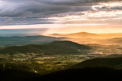 Waking up Piedmont (Vladimir Grablev) Tags: view usa landscape nature nationalpark mountains clouds appalachian shenandoah contrast virginia travel scenic sky park colorful beams national