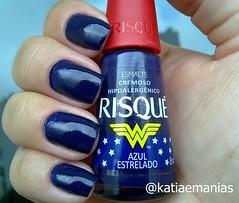 Azul Estrelado (Risqué) (katiaemanias) Tags: risque unhas unha nails nailpolish nail azul esmalte esmaltes katiaemanias