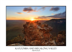 Sunset mountains Katoomba and Megalong Valley Australia (sugarbellaleah) Tags: megalongvalley bluemountains australia travel tourism mountain rock sundown sky dusk outdoors nature environment katoomba trees valley boarsheadrock sunrays sunburst geology clouds cliffs beautiful place scenery sensational freshair
