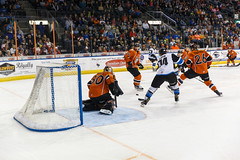 "Missouri Mavericks vs. Wichita Thunder, March 25, 2017, Silverstein Eye Centers Arena, Independence, Missouri.  Photo: © John Howe / Howe Creative Photography, all rights reserved 2017. • <a style=""font-size:0.8em;"" href=""http://www.flickr.com/photos/134016632@N02/33659861506/"" target=""_blank"">View on Flickr</a>"
