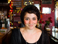 Stranger 3/100 | Julia, server at the Mercury Cafe (Web-Betty) Tags: portrait strangers manualfocus naturallight legacyglass adaptedlens ilovefocuspeaking 28mm minoltamd