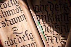 Textura + Fraktur alphabets.