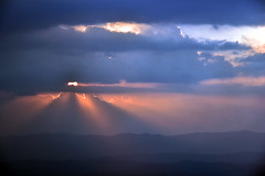 last rays (bluefam) Tags: rays sky cloud mountain sunset