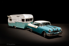 Camping in Style (david.horst.7) Tags: scale diecast car camper trailer pontiac starchief shasta 124 model 1955