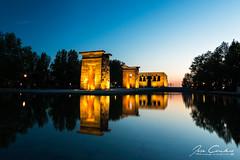 Templo de Debod (JOSE C.P.) Tags: templo debod madrid nocturna largaexposicion de españa espagne espanha spain spagna spanien spanje spagne spania