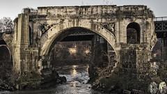 Ponte Rotto (occhio-x-occhio) Tags: 500px rough watermark sky architecture gray morning web city oxo rome old bridge travertino brick river water pinterest g flickr