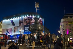 Piccadilly Circus (Peppis) Tags: londra london piccadilly peppis nikon nikond7000 nikonclubit bluehour orablu night nightimage nationalgeographic notturno fotonotturne fotosnocturnes