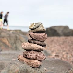 Leif Erikson Park, Duluth (Sharon Mollerus) Tags: beach rocksculpture rockyshore walkers duluth minnesota unitedstates us cfpti17