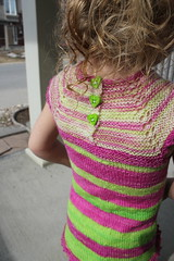 Zoe, 2 years 36 weeks old 9 (peridragon) Tags: zoe toddler knitting testknit neonpinnet spacecadet ravelry
