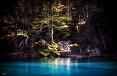 Staircase to the Blue Lake (VandenBerge Photography (this week mostly absent)) Tags: berneseoberland kandersteg europe switzerland colours colors nature historical forest trees travel tourism canon water waterscape lonelyplanet nationalgeographic
