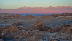 Marscape (Oliver J Davis Photography (ollygringo)) Tags: landscape mars atacama desert chile southamerica red luna valle valley andes mountains valledelaluna valleyofthemoon nikon d90 beauty nature planet earth dusk rock formation geology erosion ridges range beautiful colourful travel sand wilderness peak jagged glow light texture eroded sanpedro