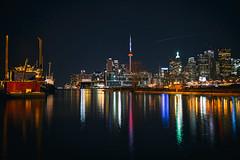 That Night in Toronto (Paul Flynn (Toronto)) Tags: toronto harbour torontoharbour skyline harbourfront cntower reflection longexposure