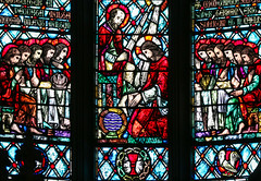 Maundy Thursday I - Christ Washes Peter's Feet (Lawrence OP) Tags: biblical lastsupper maundy thursday triduum stainedglass jesuschrist apostles peter stdominics sanfrancisco