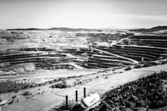 20 Mule Team Borax Mine. Boran. California (PickledMonkeyStudio) Tags: boron boroncalifornia borax stripmine mine pit industrial mining blackandwhite california bw landscape terraced