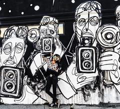 041717_1688 Misti Cooper at Stephen Palladino's painting of paparazzi in WEHO CA (DRUified) Tags: rebeccadru druified thesoulphotographer rebeccadruphotography transformationalphotography empath intuitive iamlove portraitphotography landscapephotography misticooper spiritualalchemist spiritualecstasy spiritualxtc roadtrip ontheroadwithspiritualxtc toronto chooselove healers energetichealer medicalintuitive transforminglivesactivatingsouls transformation transforminglives activatingsouls westhollywood california usa getolympus olympuscamera iwanttobeanolympusvisionary olympusomd olympusem1 olympusem5