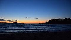 summer moods (JoannaRB2009) Tags: summer evening landscape view water mediterranean blue seascape clouds sunset silhouettes tree trees island crete kriti kreta greece greek waves longexposure nature