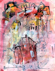 Home in the City (artbwf) Tags: mixedmedia recycled collaborative