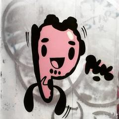 Street art at Cardiff's Principality Stadium. (oth1) Tags: instagramapp square squareformat iphoneography uploaded:by=instagram ludwig cardiff principalitystadium graffiti streetart cartoon millenniumstadium