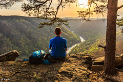 Unwind (zachary.locks) Tags: beautiful beauty cliffs day earth edge gorge green mounains new person portrait relaxed river rocks self sitting spring sunset trees unwind