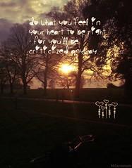 Feel it! (HiJinKs Media...) Tags: trees sun life lessons heart sunset bike path light clouds bristol fields feel live