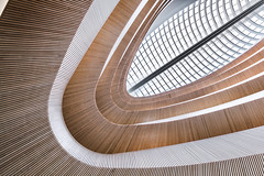Spectre (Robert_Franz) Tags: architecture architectural interior fineart modern calatrava zürich urban city colors library futuristic abstract wood