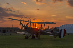 Sunset Debrief (Kev Gregory (General)) Tags: royal aircraft factory be2e replica cn 752 a2767 biplane timeline events sunset night shoot stow maries great war aerodrome maldon essex world one wwi raf rfc flying corp air force kev gregory canon 7d