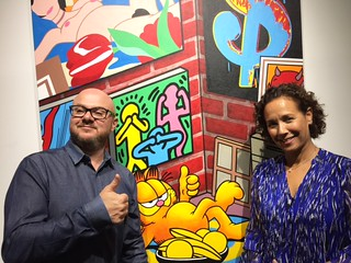 Fabien Castanier and Martine Marchand gallery owners and new neighbors in Wynwood. Speedy Graphito on view until April 30 (82 NE 26 St. Ste 111).