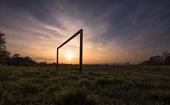 Sunset over the Playing Fields, Banstead, Surrey (Jacob Arnold Photo) Tags: field uk nikon d750 sunset 1424mm surrey banstead football lowlight