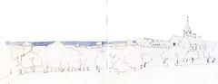 Saint-Pierre-du-Mont, Calvados, France (Linda Vanysacker - Van den Mooter) Tags: france art pencil sketch drawing aquarelle dessin watercolour frankrijk crayon acuarela calvados aquarel croquis tekening aquarell acquerello schets potlood akvarell saintpierredumont vanysacker visiblytalented vandenmooter lindavanysackervandenmooter lindavandenmooter