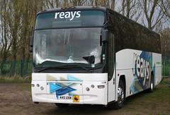 445UXM Reays, Wigton (highlandreiver) Tags: park bus volvo coach united cumbria carlisle brunton penrith wigton plaxton reays 445uxm