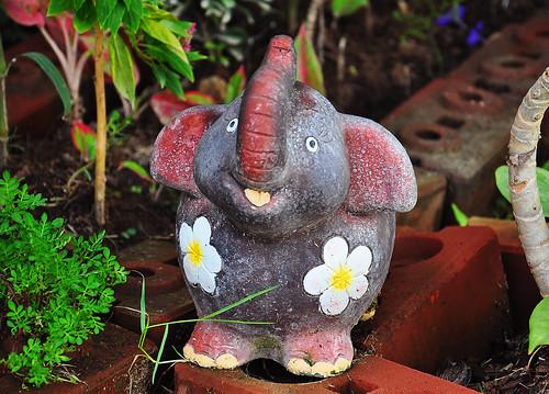 Thailand, Hua-Hin, figure of an elephant