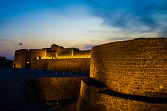 BAHRAIN FORT (Hussain Isa) Tags: sky history archaeology horizontal architecture outdoors photography bahrain ancient day arch nopeople footpath fortress thepast standingwater traveldestinations ancientcivilisation colourimage builtstructure