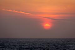 Blood Sun (AGrinberg) Tags: ocean sunset red sun pacific 34626sunset0418 200mm14extender