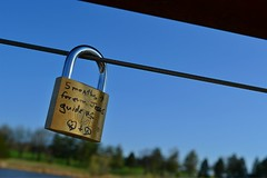 Engagement Lock (Summer Theis Photography) Tags: wedding sky lake cute water engagement couple lock holmes