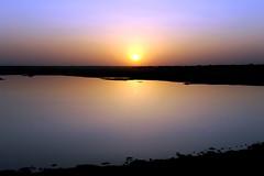 Tordi (Alex Hannam) Tags: sunset sky india lake reflection tordi