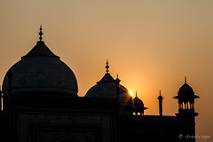 Taj Sunrise 2212 (Ursula in Aus - Away Travelling) Tags: india architecture taj tajmahal mosque unesco masjid uttarpradesh earthasia