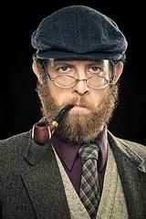 Movember 2012 - Professor (Iaian7) Tags: selfportrait wool beard glasses pipe movember bronica series professor tweed canont2i zenzanonmc50mm menscancerawareness
