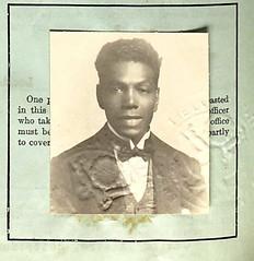 Orestes Alphonso Pierce 1919 (puzzlemaster) Tags: westvirginia performer musichall vaudeville passportphoto blackdiamonds