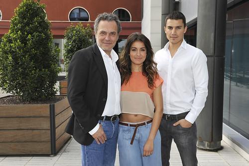 """José Coronado, Hiba Abouk y Álex González en la presentación de """"El Príncipe"""""""