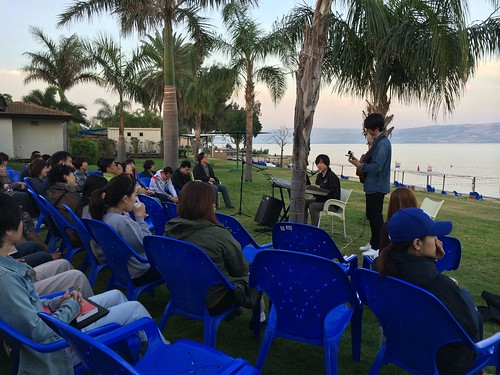 Morning Worship at Ein Gev, Galilee