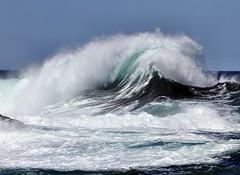 Surf (Karen_Chappell) Tags: ocean blue sea white seascape canada nature newfoundland surf wind wave atlantic nfld atlanticcanada middlecove avalonpeninsula