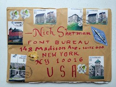 Package from Kaisa & Christoffer (Nick Sherman) Tags: finland mail stamps lettering calligraphy package