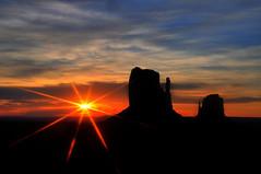 Monument Valley - Sunrise [Explore] (zendt66) Tags: travel camping vacation arizona usa southwest monument sunrise utah nikon butte desert scenic american valley monumentvalley hdr mitten cokin navajotribalpark d90 photomatix zendt66
