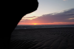 Talacre beach (timbo on the hill) Tags: sea sky cloud sun water sunrise dawn spring nikon dxo talacre irishsea northwales deeestuary pointofayr d7000 thecull