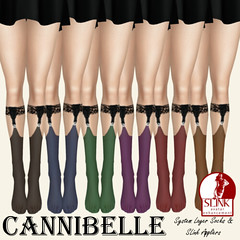 Cannibelle~ Nylon Suspender Socks - Dark (Annabelle Couturier ~Cannibelle~) Tags: world blue red brown black green stockings socks dark purple lace sophie goth fair tights lancaster knee ankle pantyhose nylon azz slink cannibelle toddleedoo wowmeh